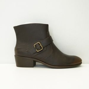 A2 by Aerosoles Short Ankle Boot Booties Brown 9.5